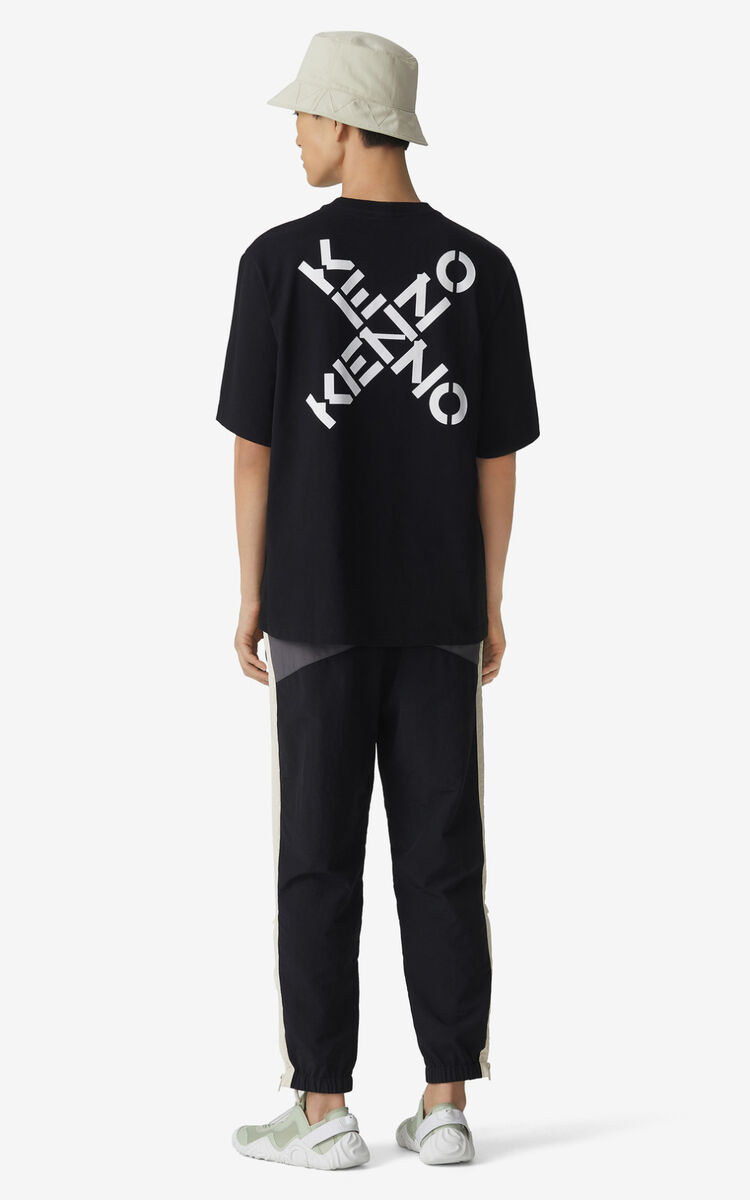 BLACK Oversized KENZO Sport 'Triple X' t-shirt for men