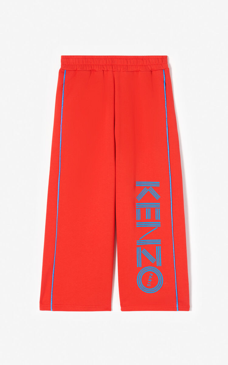 MEDIUM RED KENZO logo culottes for women