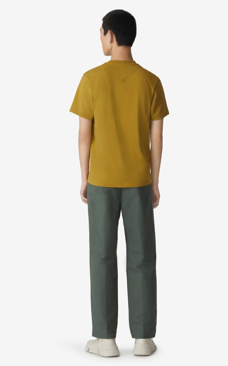 PALE KHAKI KENZO Logo t-shirt for men