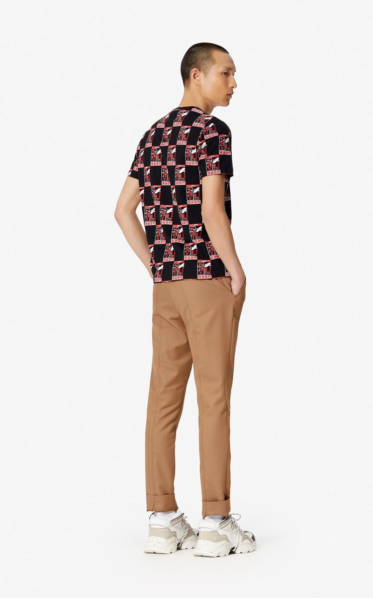 PALE CAMEL Cropped straight trousers for women KENZO
