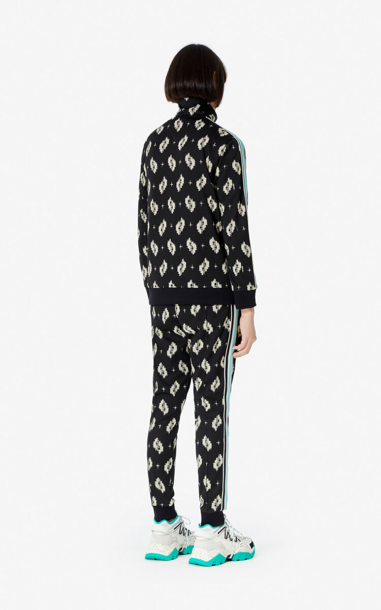 BLACK 'Ikat' trousers for men KENZO