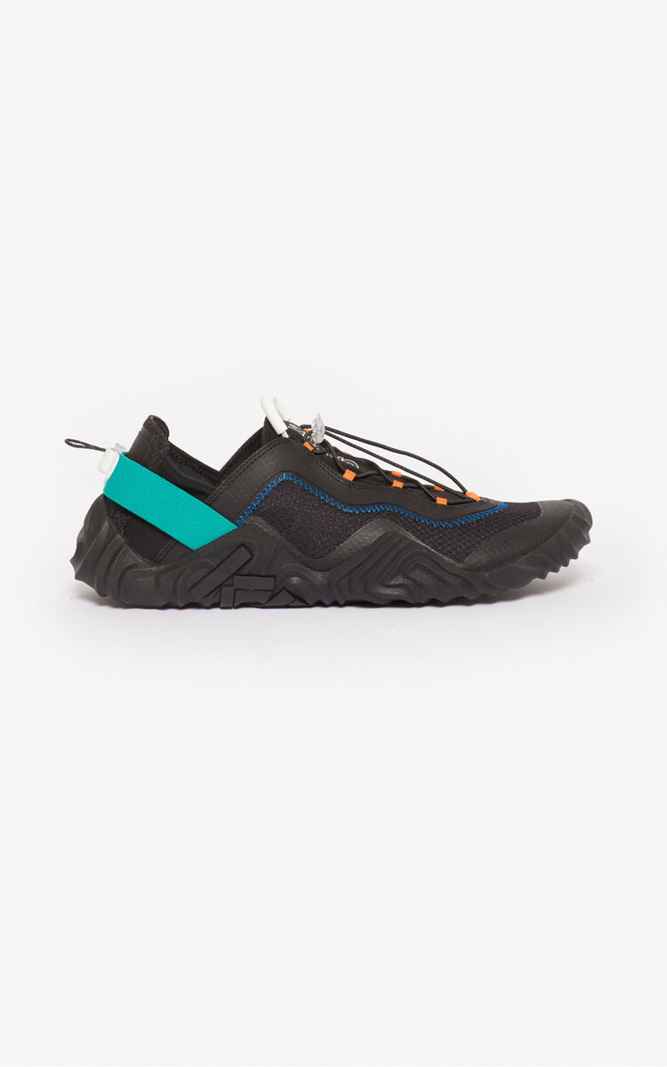 BLACK Wave sneakers for women KENZO