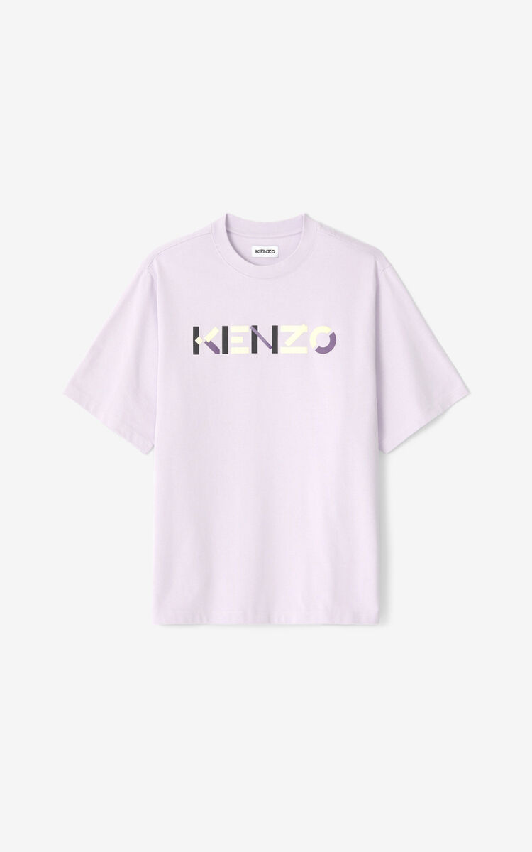WISTERIA Multicoloured oversize KENZO Logo T-shirt for women