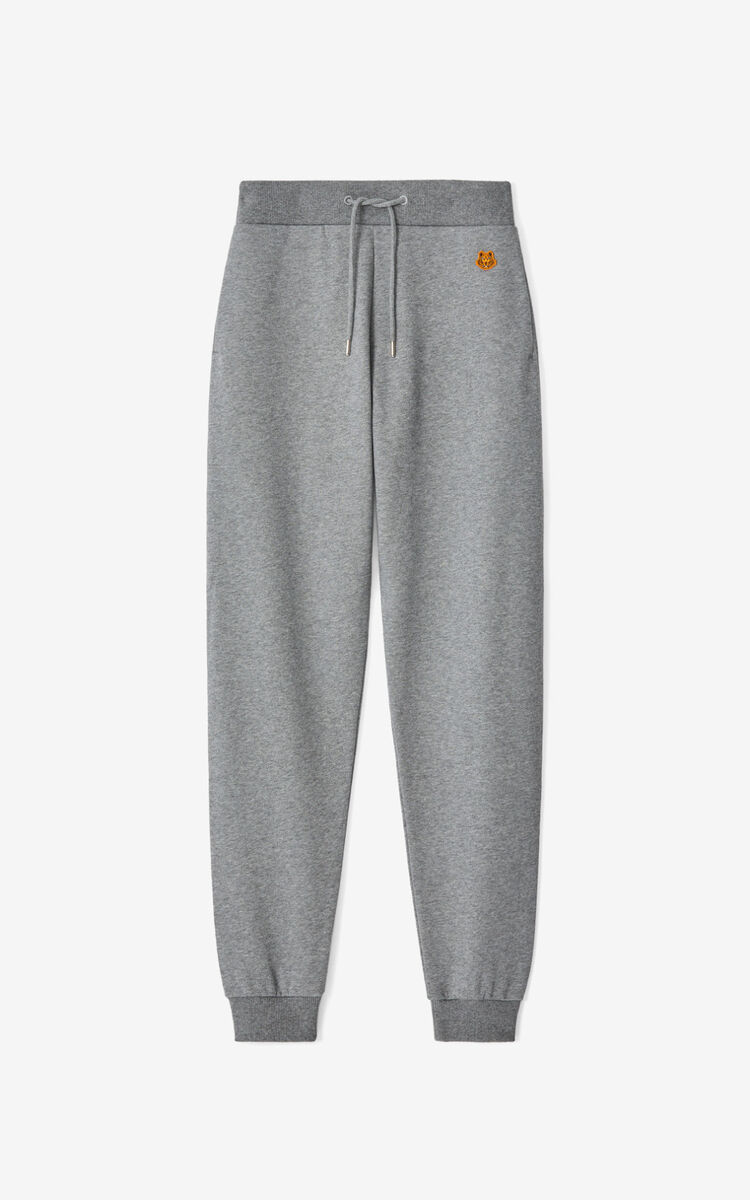 DOVE GREY Tiger Crest joggers for women KENZO