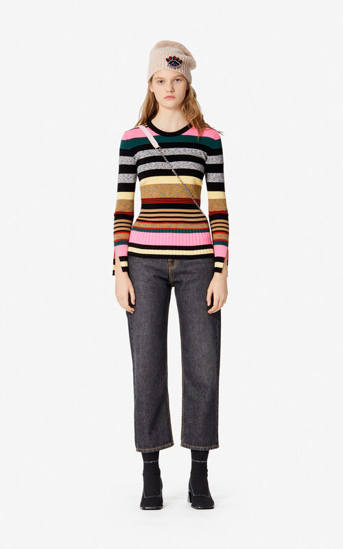 MULTICOLOR Striped jumper for women KENZO