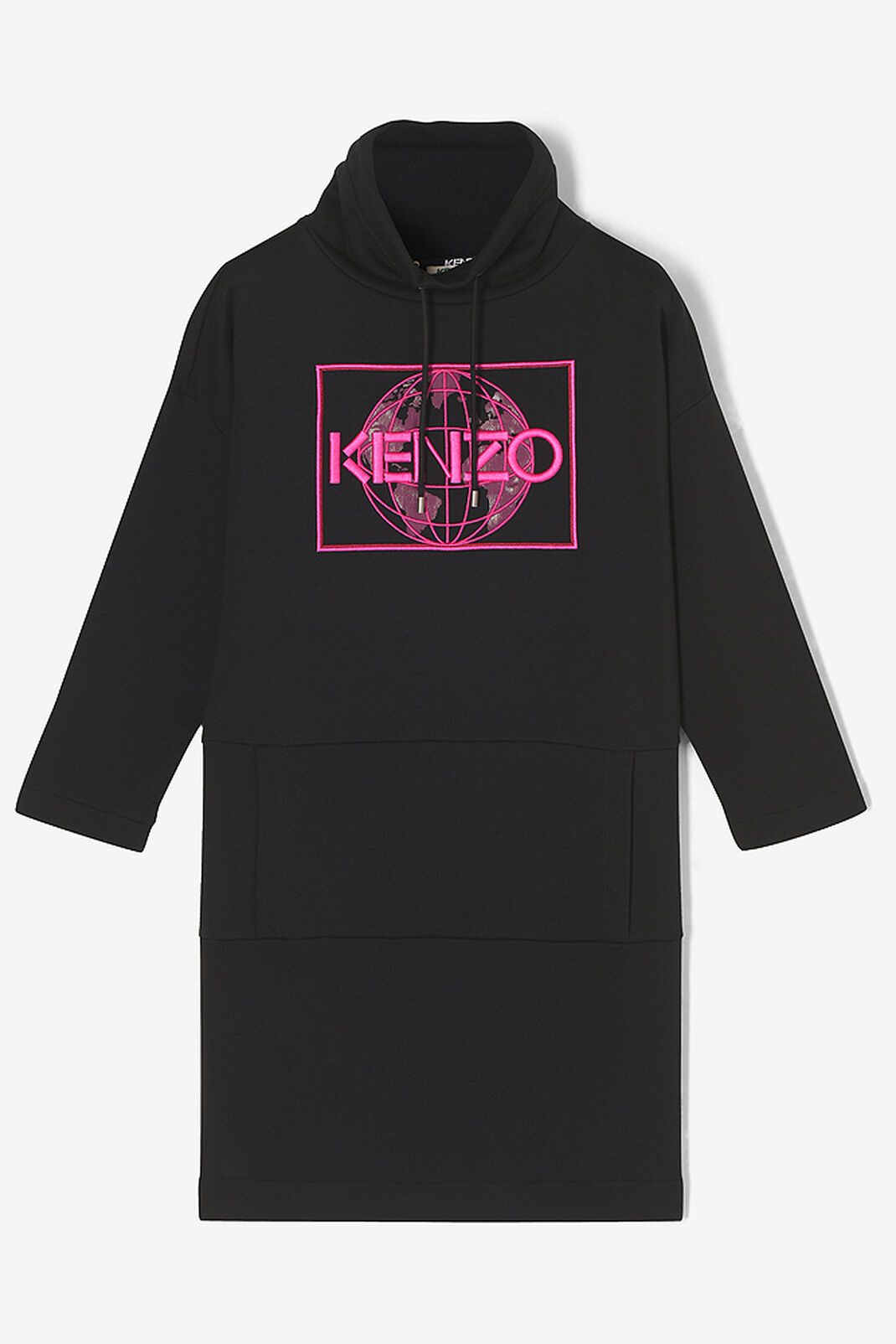 BLACK KENZO World Sweatshirt Dress for women