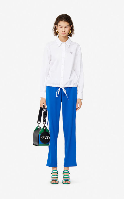7d95f9122e6 ... FRENCH BLUE Fluid trousers for women KENZO