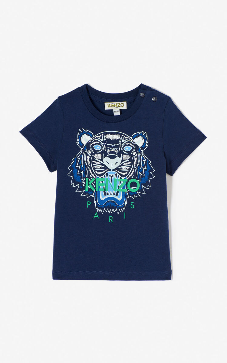 4ac83015f9bc NAVY BLUE Tiger t-shirt for men KENZO