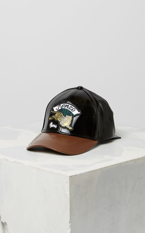 BLACK 'Bamboo Tiger' baseball cap for unisex KENZO