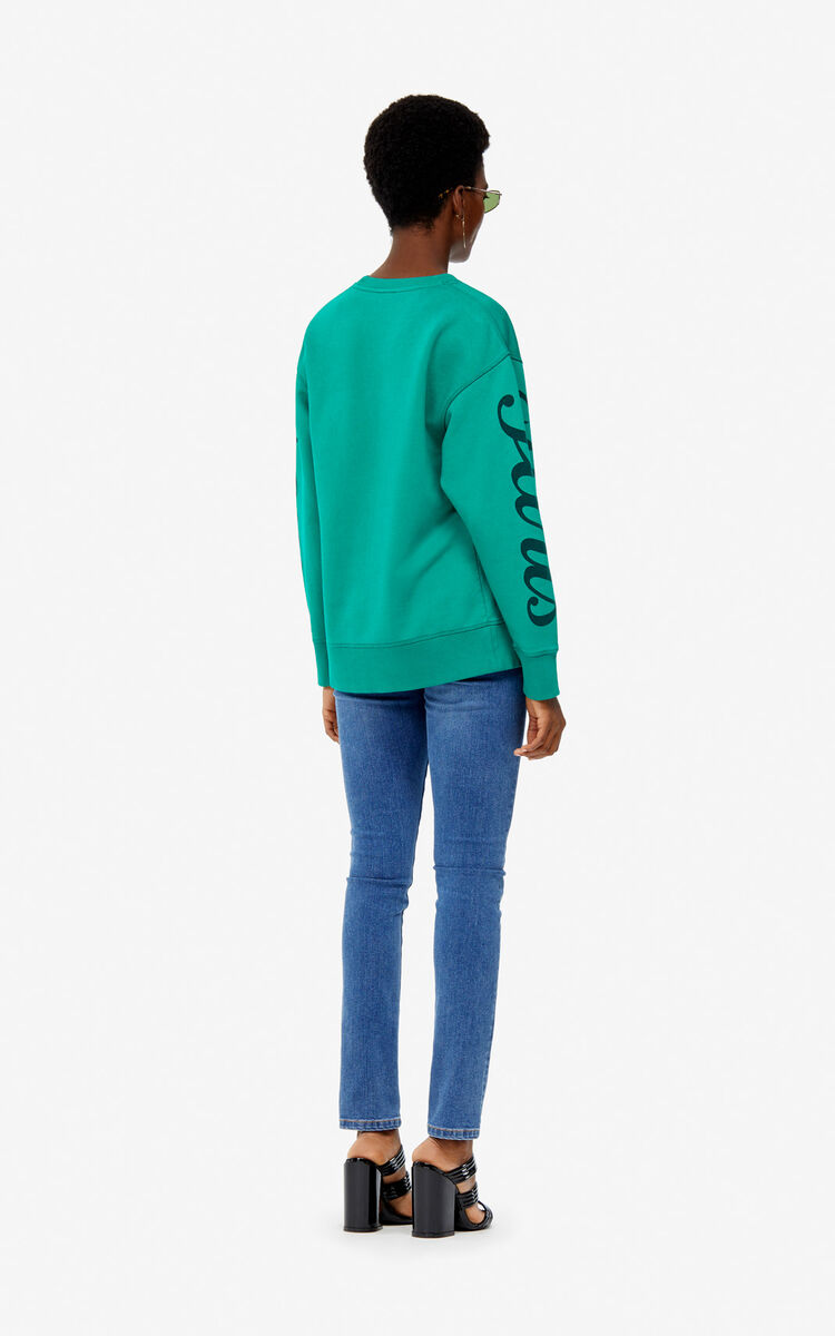 GRASS GREEN 'Jumping Tiger' sweatshirt for women KENZO