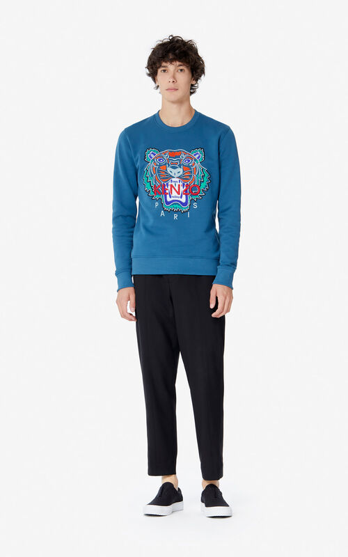 BLUE 'Holiday Capsule' Tiger sweatshirt for women KENZO
