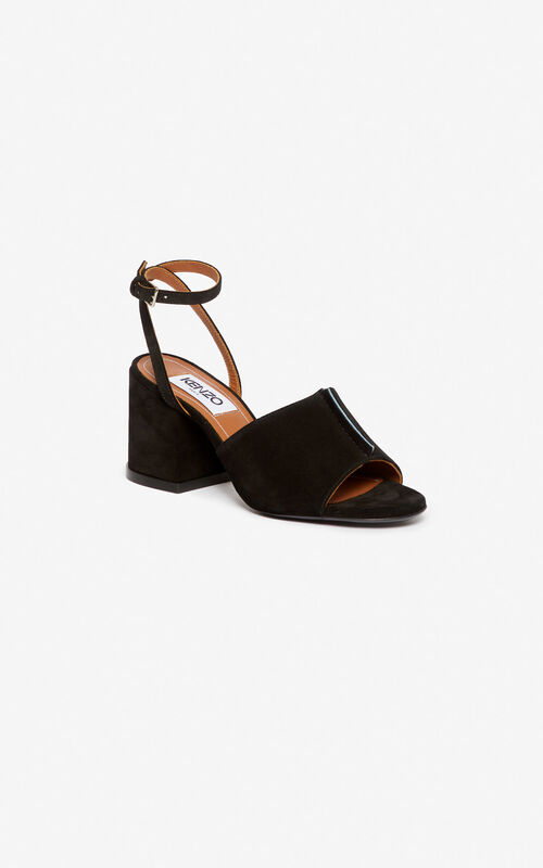 BLACK Daria heeled sandals for women KENZO