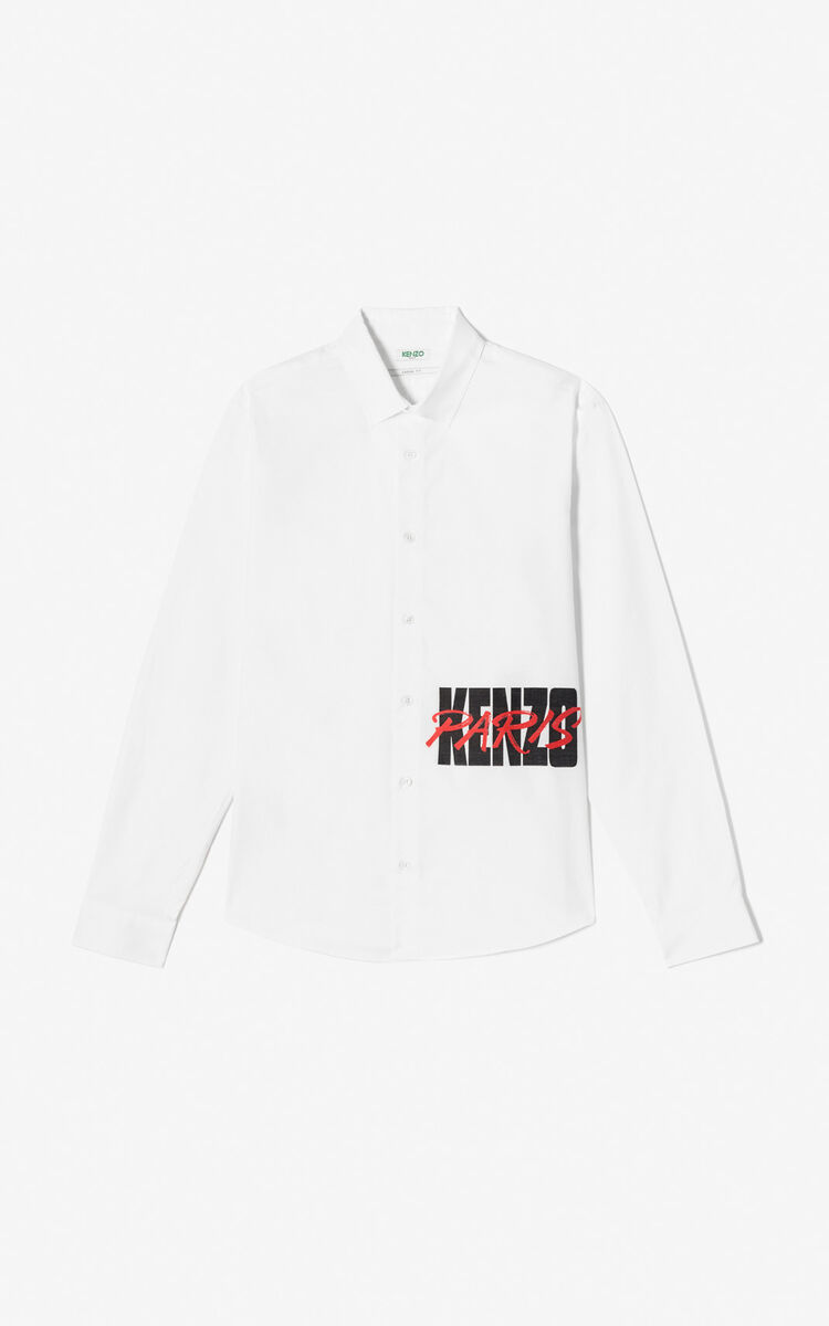 WHITE KENZO Paris casual shirt for men