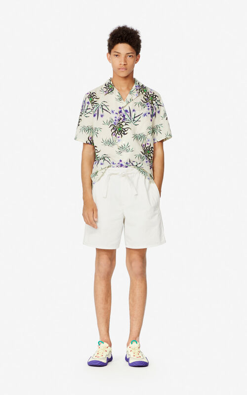 OFF WHITE 'Sea Lily' casual shirt for men KENZO
