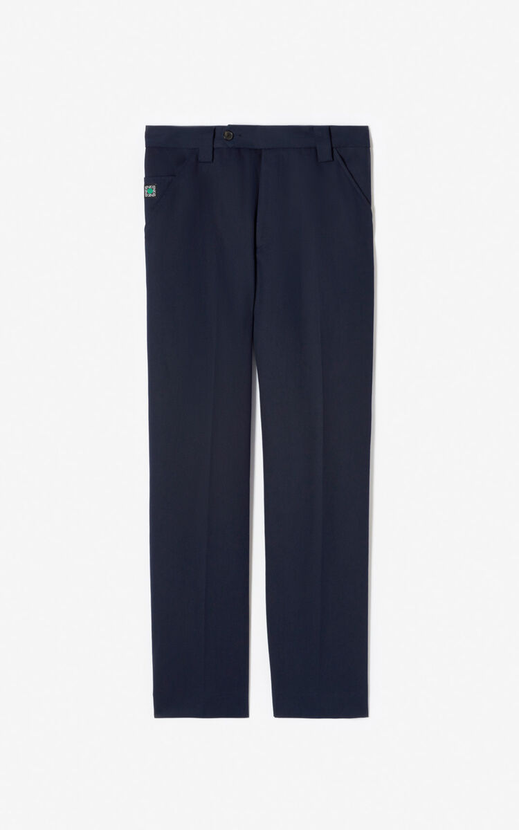 MIDNIGHT BLUE Straight trousers for women KENZO