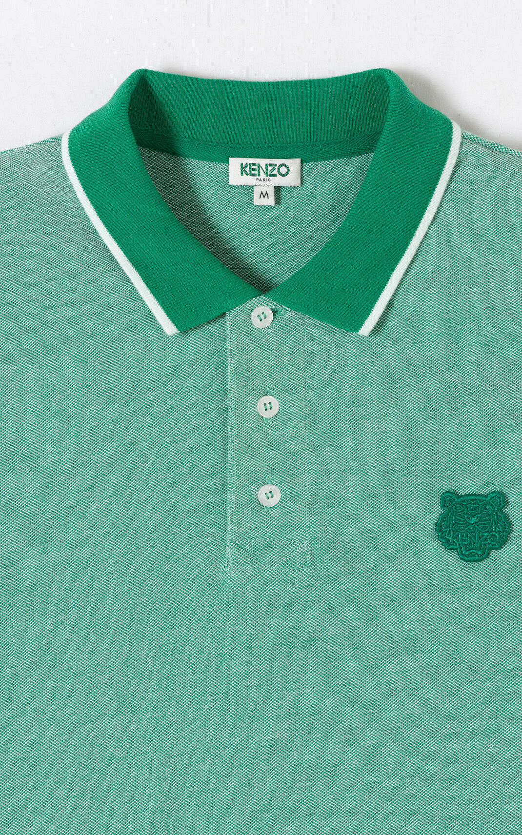 GRASS GREEN Tiger polo shirt for men KENZO