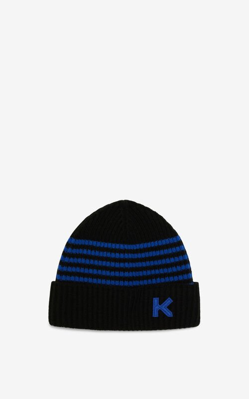ROYAL BLUE Wool beanie for men KENZO