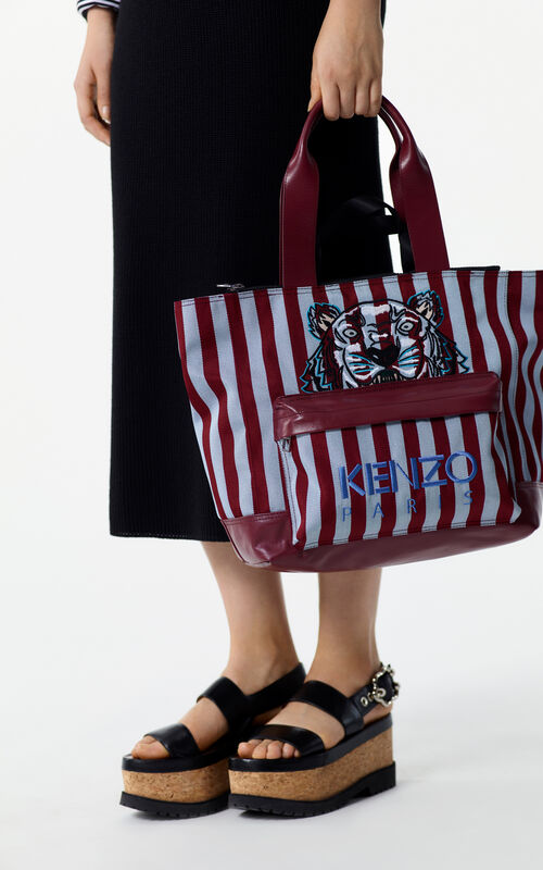 Striped Tiger tote bag for unisex KENZO