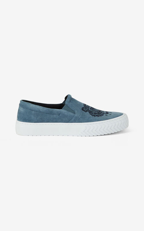 GLACIER K-Skate Tiger suede laceless trainers for men KENZO