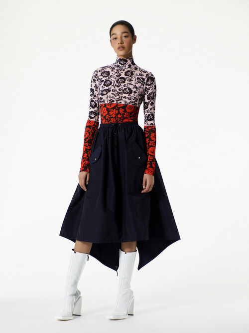 NAVY BLUE A Line skirt for women KENZO