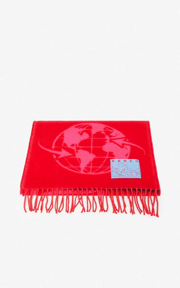 DEEP FUSCHIA 'Rice Bags' scarf for unisex KENZO