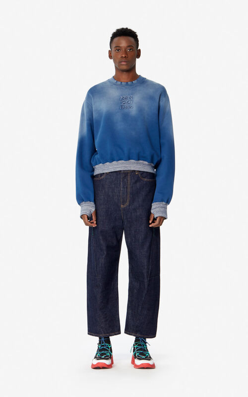 DUCK BLUE 'KENZO Paris' faded sweatshirt for men