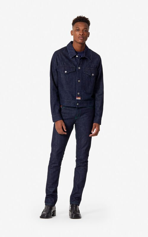 NAVY BLUE 'Leopard' jeans for men KENZO