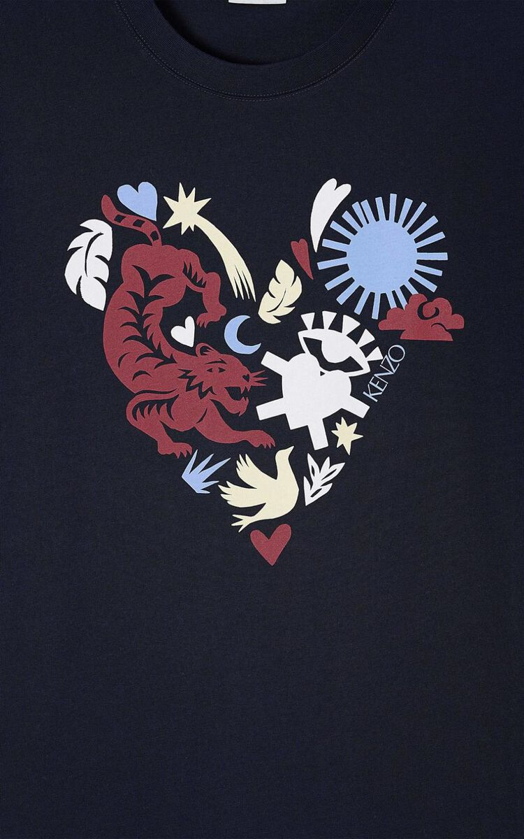 MIDNIGHT BLUE 'Valentine's Day Capsule' 'Lucky Star' T-shirt for men KENZO