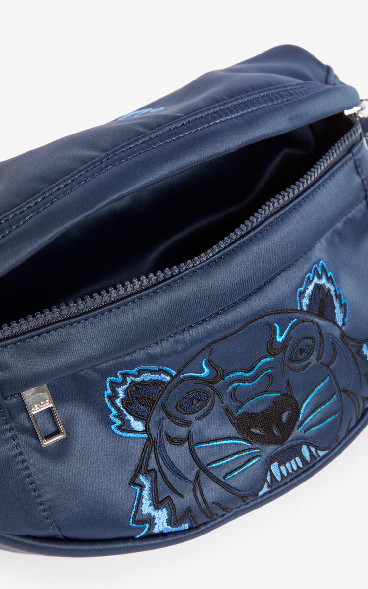 MIDNIGHT BLUE Satin Tiger bumbag 'Holiday Capsule' for women KENZO
