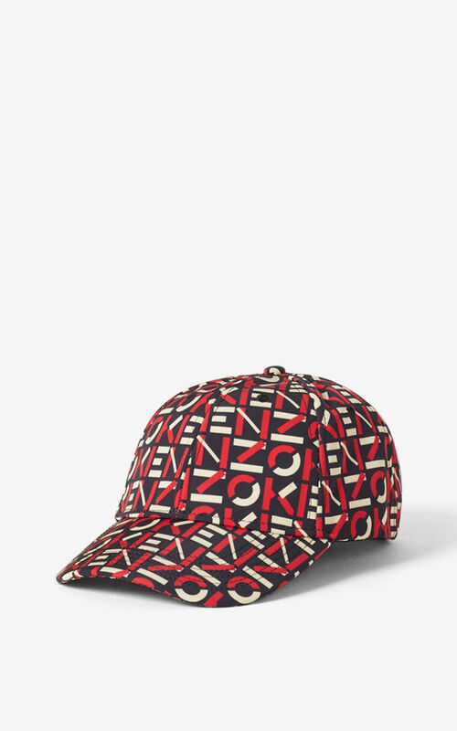 MEDIUM RED KENZO Sport monogrammed cap for unisex