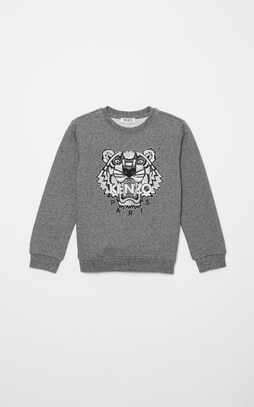 ANTHRACITE Sequins Tiger Sweatshirt for women KENZO