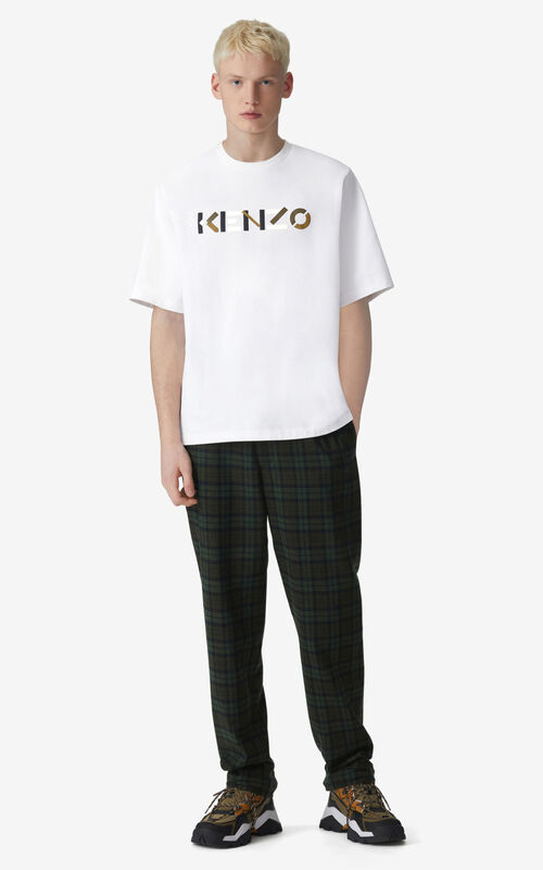 WHITE KENZO Logo t-shirt for men