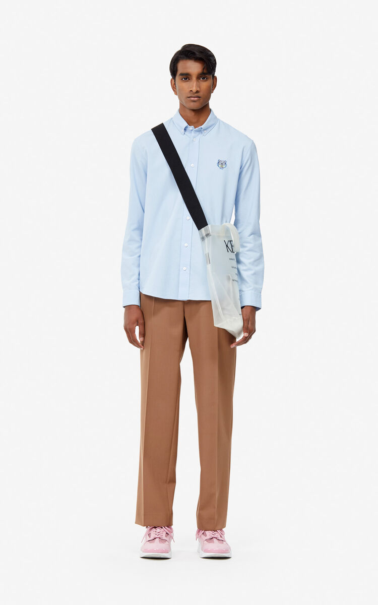 d832732ff LIGHT BLUE Tiger Oxford shirt for men KENZO