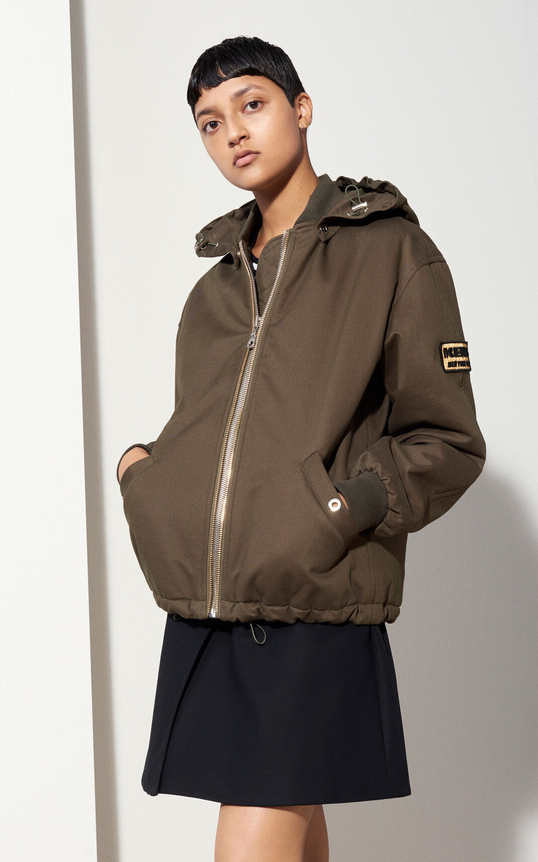 Short Cotton Parka for Kenzo | Kenzo.com