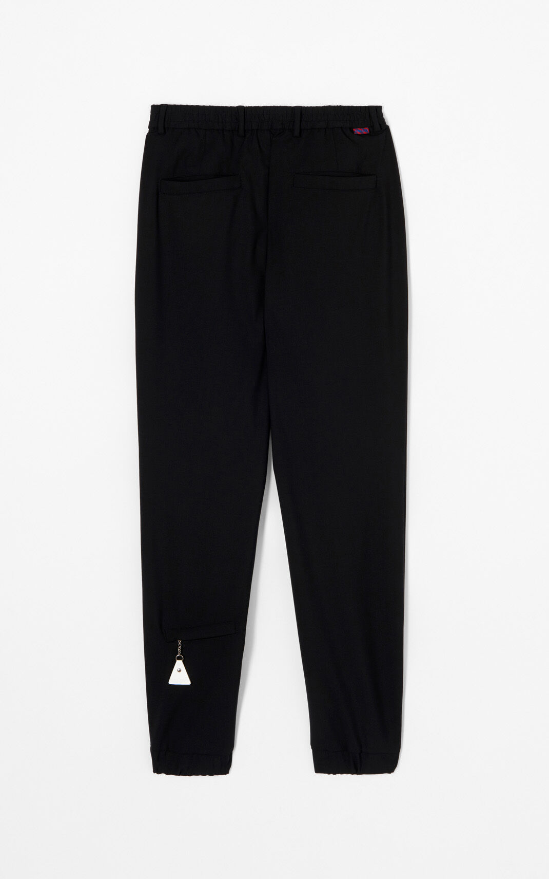 BLACK Wool jogging bottoms for men KENZO