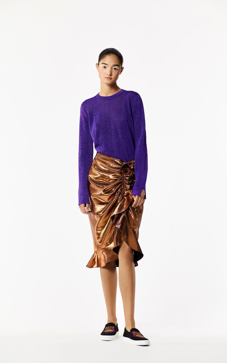 BRIGHT PURPLE 'Holiday Capsule Collection' Lurex Sweater for women KENZO