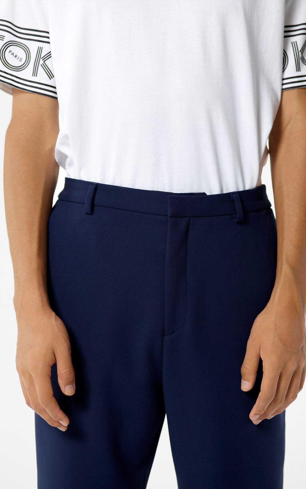 NAVY BLUE Straight-fit jogging bottoms for men KENZO