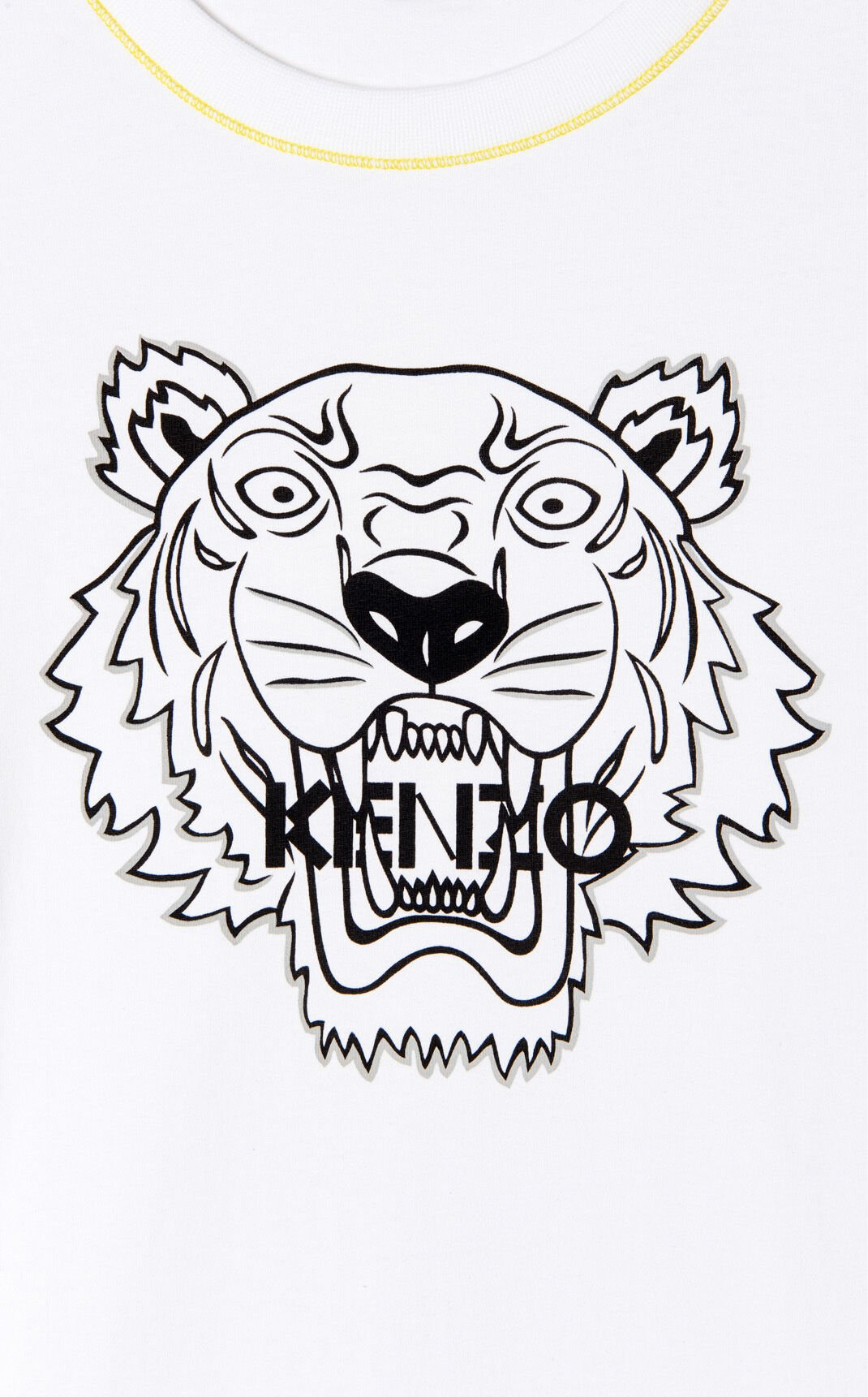 WHITE Tiger t-shirt dress for women KENZO