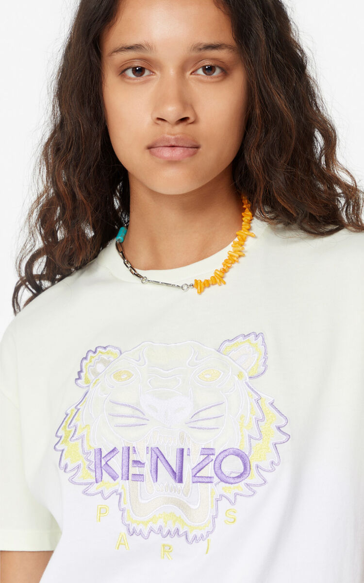 IVORY Gradient Tiger t-shirt for women KENZO