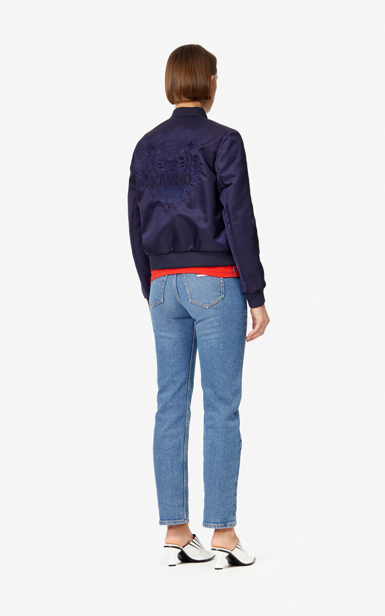 NAVY BLUE Tiger Bomber Jacket for women KENZO