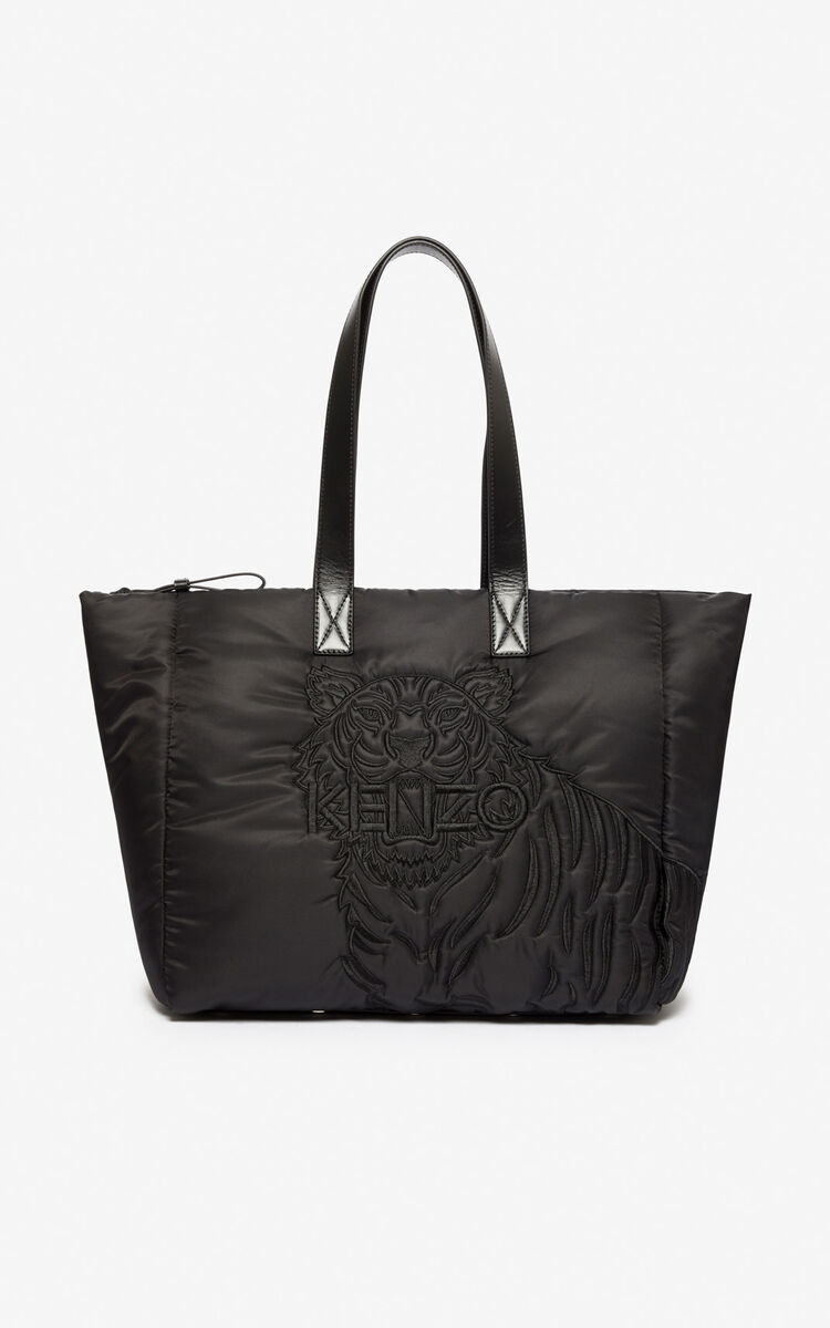 BLACK Tiger tote bag for unisex KENZO