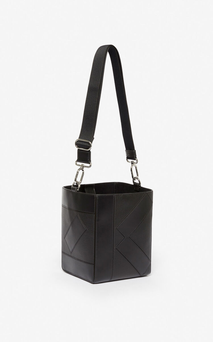 BLACK Kube Small Tote bag  for women KENZO
