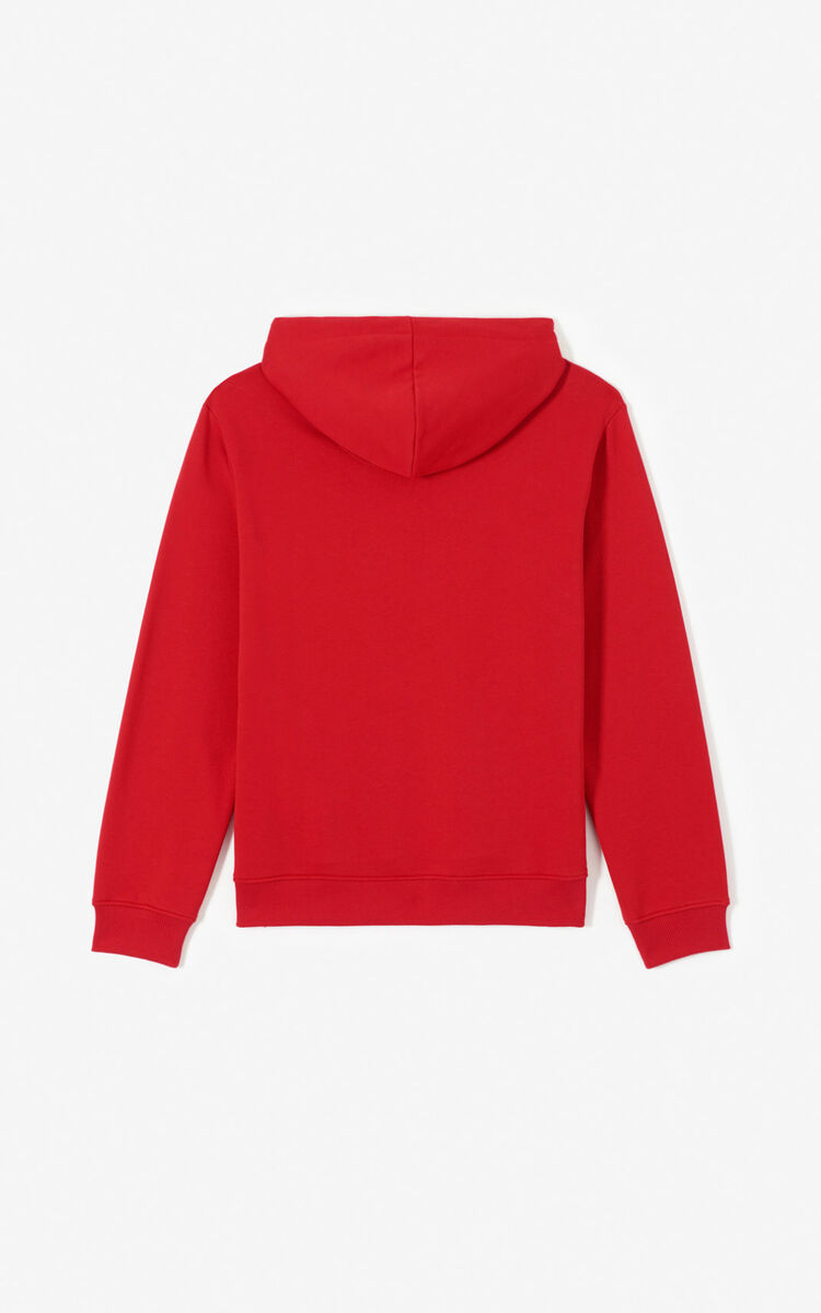 MEDIUM RED Tiger hoodie for men KENZO