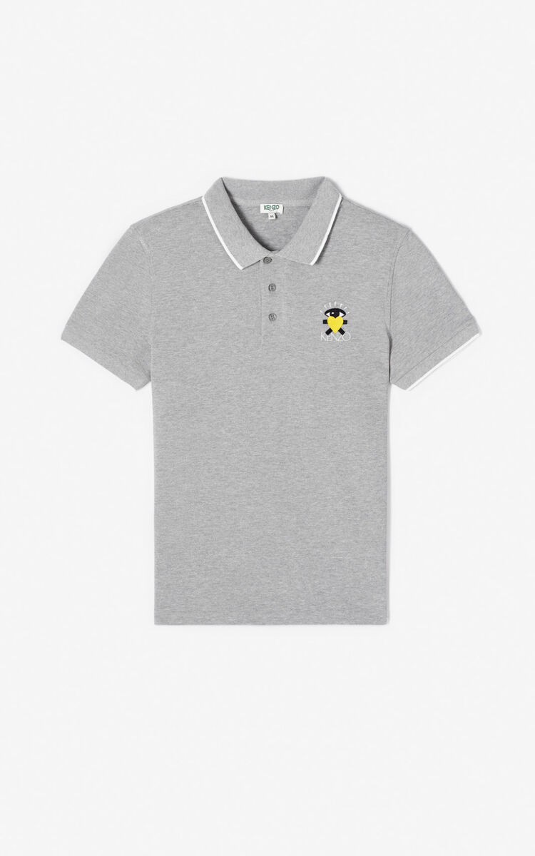 PEARL GREY Fitted 'Cupid' polo shirt for women KENZO