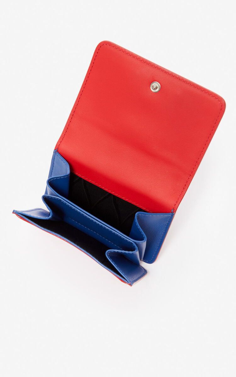 MEDIUM RED K-Bag leather coin purse for unisex KENZO