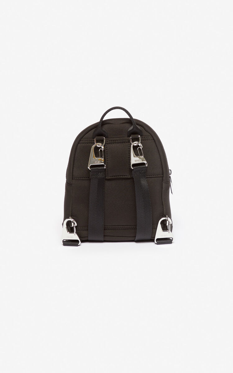 BLACK Mini Tiger backpack in neoprene for men KENZO