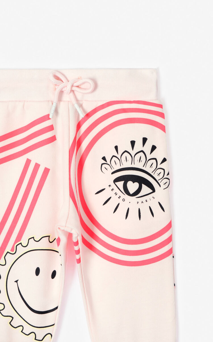 FADED PINK 'Cali Party' jogging trousers for unisex KENZO