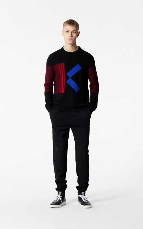 BLACK Knitted jogging bottoms for men KENZO