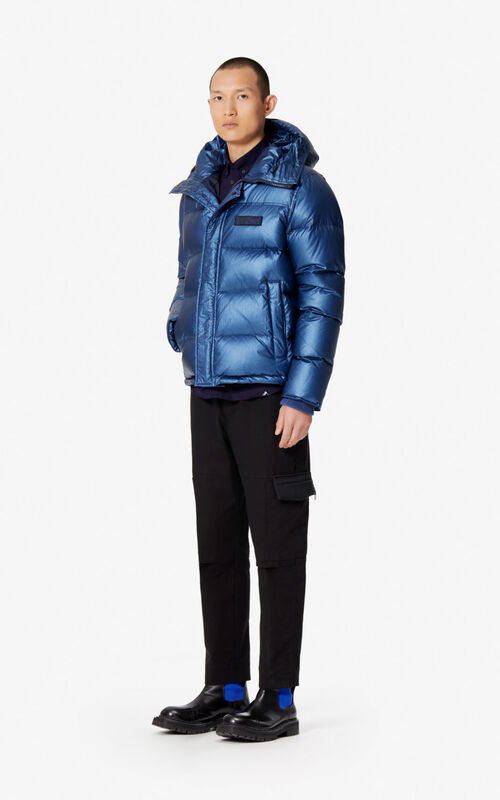 FRENCH BLUE Quilted puffer jacket for men KENZO