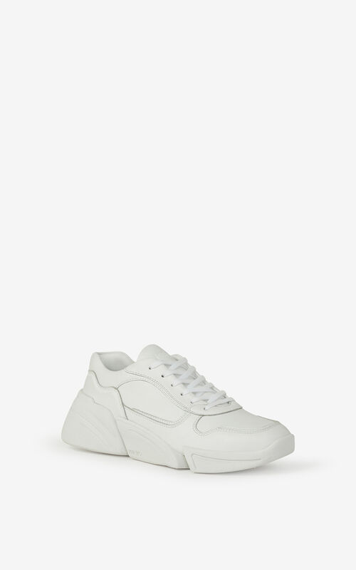 WHITE Kross leather trainers for unisex KENZO